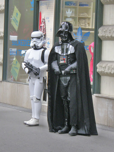 storm trooper, Darth Vader, Budapest, Hungary, Star Wars
