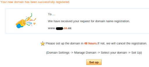 finishing Cara Mendaftar Domain Gratis Co.CC, Sudah ter index Google Kembali