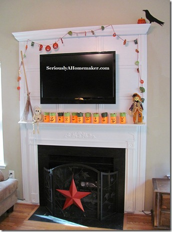 tv cords hidden in fireplace trim