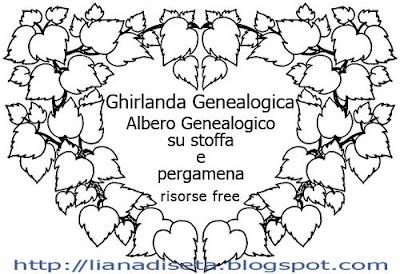 Schema free: foglie dipinte intorno al monogramma ricamato