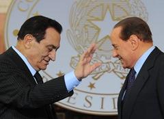 Berlusconi and Mubarak