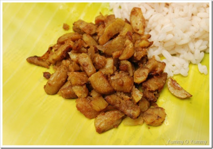Koorkka Mezhukkupuratti / Chinese Potato Stir-fry