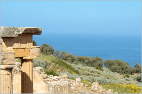 Sizilien - Santa Flavia - Solunto ist eine der größten archäologischen Ausgrabungsstätten in Sizilien