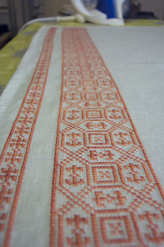 Apron embroidery row 1 & 2