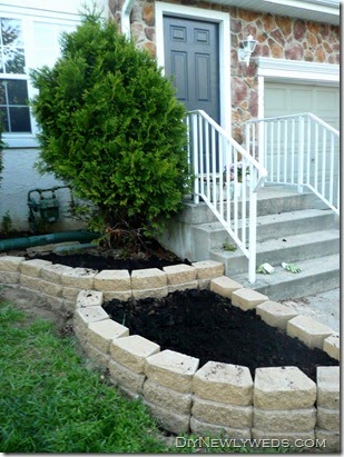 diy makeover backyard landscaping project DIY Newlyweds: DIY Home Decorating Ideas & Projects: Front