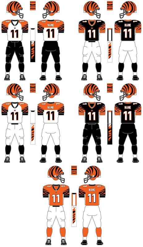 Bengals Throwback Uniforms
