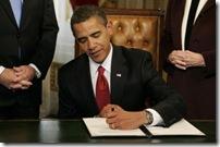 Obama signing stimulus package