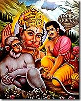 Hanuman and Bhima