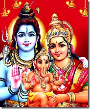 Shiva and Parvati with son Ganesha