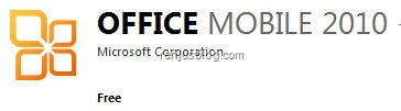 Micorsoft Office Mobile 2010 Free
