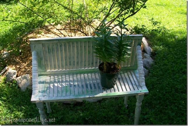chippy green plant shelf