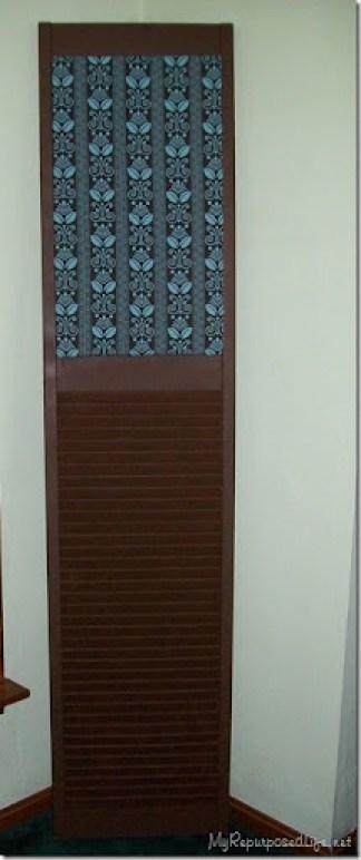 repurposed shutter (bifold door)