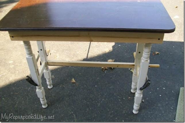 repurposed crib table
