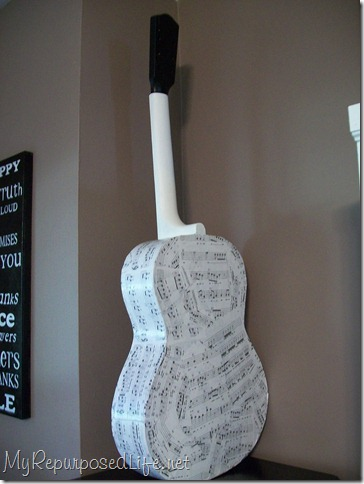 decoupaged guitar