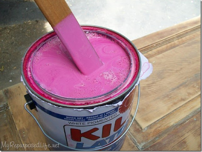 red oops paint