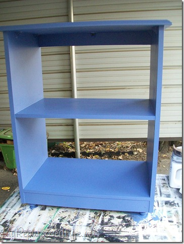 blue microwave cart