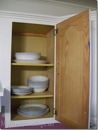 oak cabinets get new paint