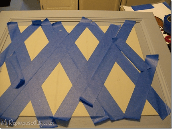 taping a harlequin pattern