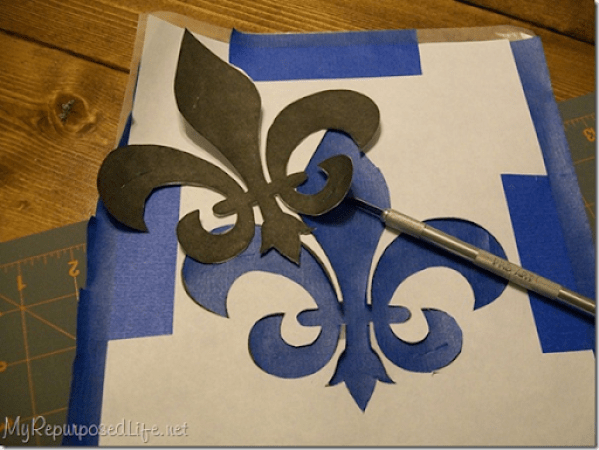 scotch blue stenciling