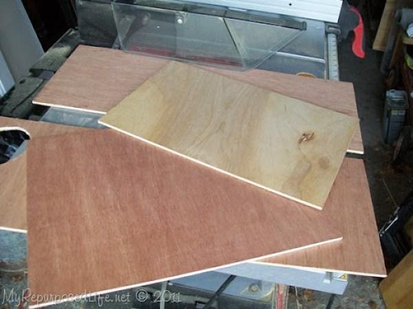 thin pieces scrap plywood