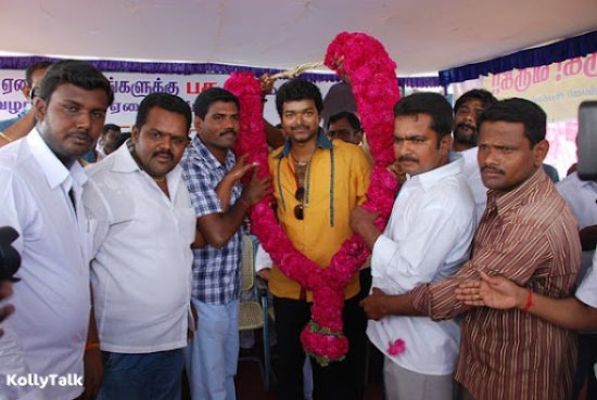 Vijay and fans on the occasion of Pasu Dhaanam