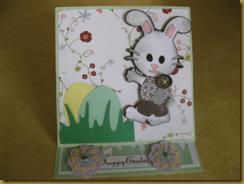 Boy Bunny Easel Card