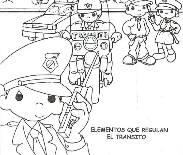 Ausmalbilder Malvorlagen: Traffic officer coloring pages