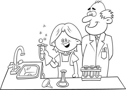 Science Lab Safety Coloring Pages Coloring Pages