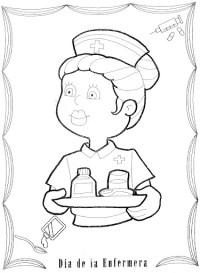 Enfermera Para Colorear Para Para Para Con Para Para Para