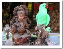 ganesh and parrot: click to zoom, new window