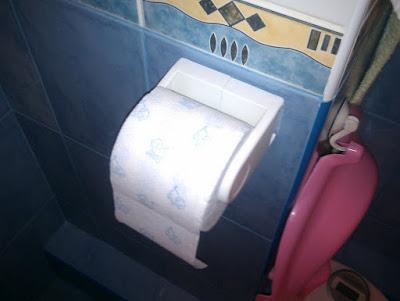 Туалетная бумага в пластиковом держателе
