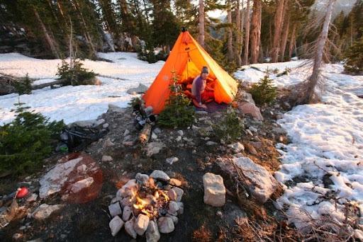 Camp near Mt. Hayden