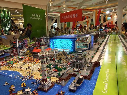 Villa olímpica con LEGO