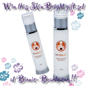 Enter to win a SkinBright skin care gift set at the Bionic Beauty blog