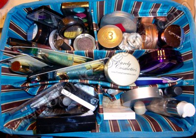 Bionic Beauty's regular makeup case - craft tote from Michaels