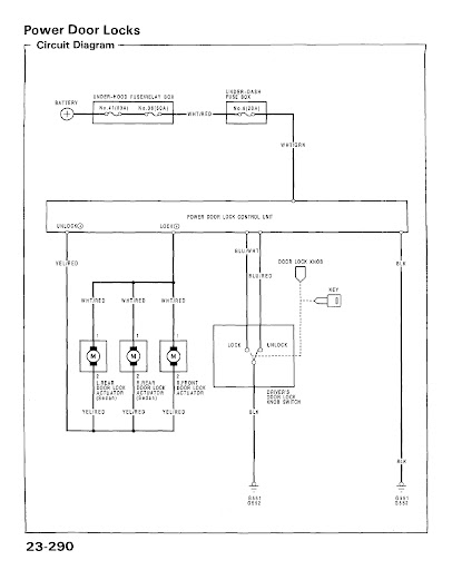 5 Wire Door Lock Actuator Wiring Diagram : actuator, wiring, diagram, Power, Wiring, Diagram, Alarm, Install, Information, Honda-Tech, Honda, Forum, Discussion