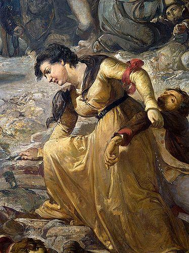 Ramon Martí i Alsina, El Gran dia de Girona, detall: heroïna (foto Patrimoni Gencat)