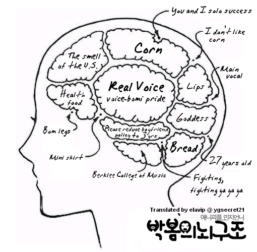 Whimsical Being: 2NE1's Brain parts