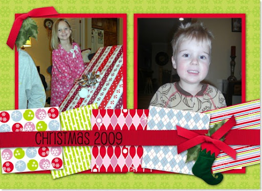 Christmas morning collage