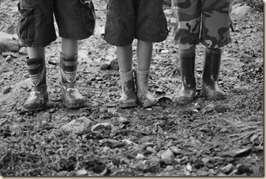B&W boys in boots 2