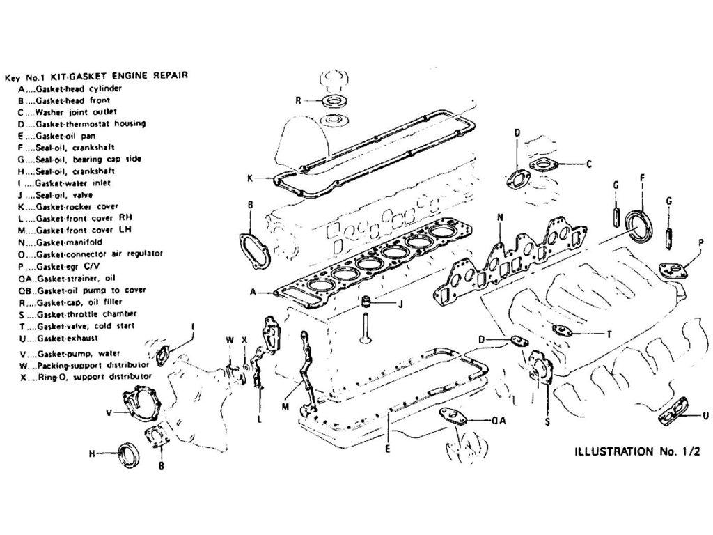 Datsun 280Z Engine Gasket Kit L28E