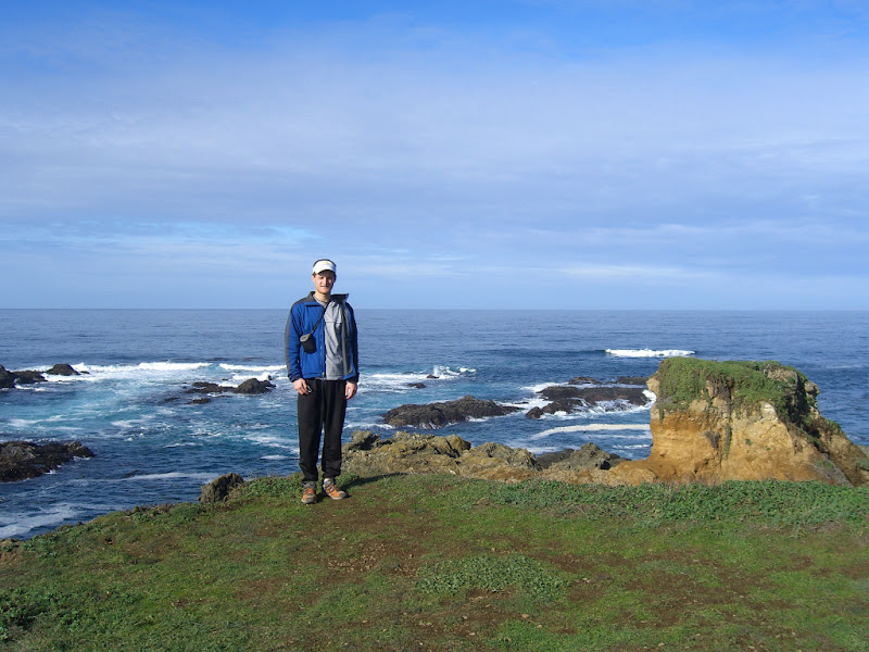Me and the rugged coast