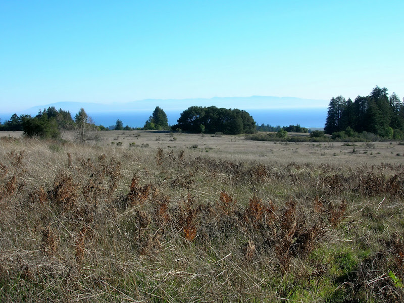 View of Monterey Bay and Santa Lucia Mountains