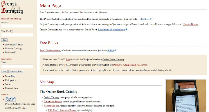 Project Gutenberg Homepage
