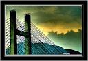 Puente atirantado sobre el embalse de Luna (León).- Galería Aljores