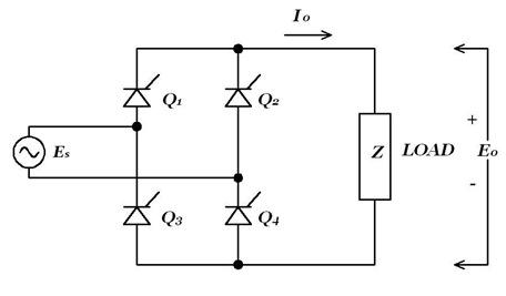 Single phase fully controlled bridge rectifier