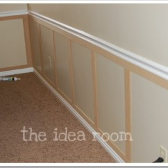 How To Put Chair Rail Molding Nursing Australia Faux Wainscoting Diy-version 2 - The Idea Room