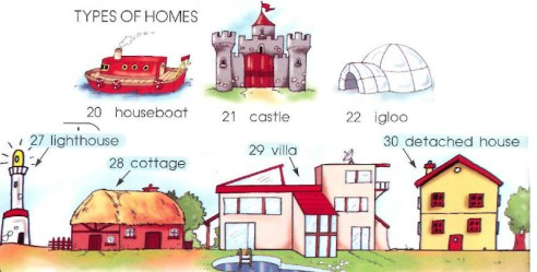 casa flotante, castillo, faro iglú, casa de campo, chalet, chalet