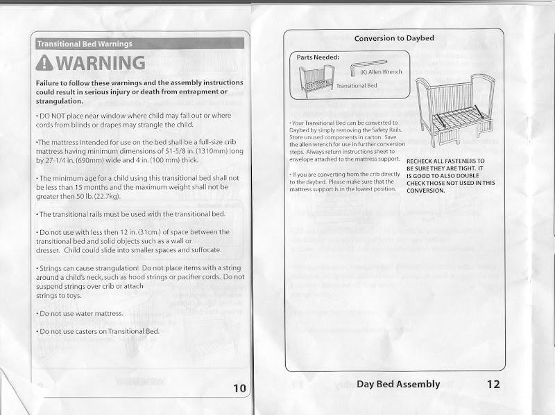 Simplicity crib manual 8748awt