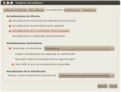 Ubuntu Lucid Proposed Repository